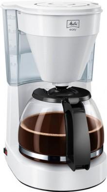 Kaffeemaschine Easy II weiß, Glas- kanne für bis zu 10 Tassen,