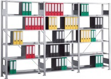 Büro Steck-Grundregal Meta Compact H1850xL1000xT300 komplett mit