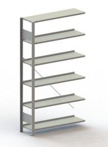 Büro Steck-Anbauregal Meta Compact H1850xL1000xT300 komplett mit