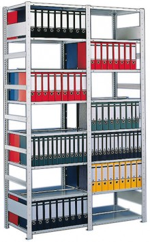 Büro Steck-Grundregal Meta Compact H2200xL1000xT300