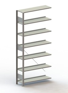 Büro Steck-Anbauregal Meta Compact H2200xL1000xT300 komplett mit