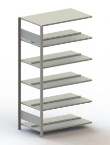 Büro Steck-Anbauregal Meta Compact H1850xL1000xT600 komplett mit
