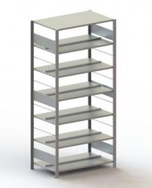 Büro Steck-Grundregal Meta Compact H2200xL1000xT600 komplett mit