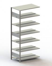 Büro Steck-Anbauregal Meta Compact H2200xL1000xT600 komplett mit