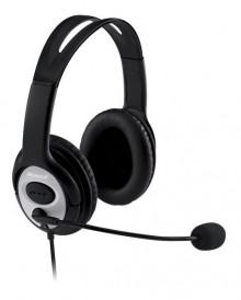 LifeChat Headset LX-3000,USB-Anschluss Lautstärkeregeler, Call Taste