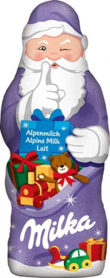 Milka Weihnachtsmann, 100g Alpenmilch Schokolade
