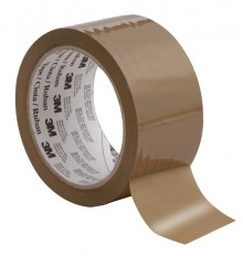 Packband Tartan 50mmx66m PP braun 25my, VE = Pack mit 6 Rollen