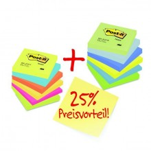 Post-it Notes 76x76mm farbig Promopack 12 x Post-it Notes 6x654TFR