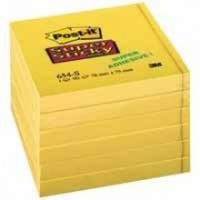 Post-it® Super Sticky Notes #654-S6 1 Block á 90 Blatt, narzissengelb,