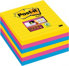 Post-it Super Sticky, 101x101 mm liniert, Rio de Janeiro Collection