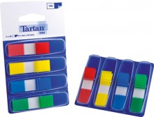 Tartan Index Haftstreifen sortiert 11x43mm, 4x35 Heftstreifen in den