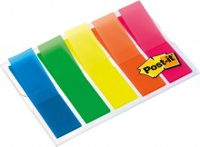 Post-it Index Markiersteifen trans- parent farbig im Etui