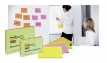 Post-it Meeting Notes 200x149mm 4 x 45 Blatt in Neonfarben