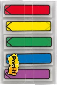 Post-it Index Haftstreifen Pfeile 11,9x43,2mm je Farbe 20 Streifen