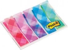Post-it Index 5x20 durchgefärbte Haftstreifen, Gingham Collection