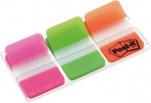 Post-it Index strong mit 3x22 Indexstreifen in pink,grün,orange