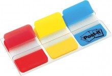 Post-it Index strong mit 3x22 Indexstreifen in rot,gelb,blau