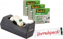 Scotch® Tischabroller A greener choice inkl. 3 Rollen Scotch® Magic