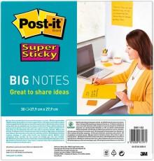 Super Sticky Big Notes, ultragelb, 279x279mm, PEFC zertifiziert