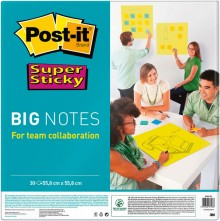 Super Sticky Big Notes, neongrün, 558x558mm, PEFC zertifiziert