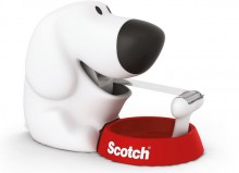 Scotch Tischabroller in Hundeform inkl.1 Rolle Scotch Magic Klebeband