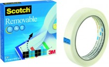 Klebefilm Scotch 811 19mmx66m Removable Tape unsichtbar