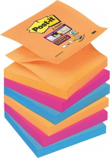 Post-it® Super Sticky Z-Notes R33012SY 6 Blöcke á 90 Blatt,