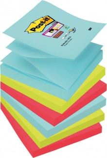 Post-it Super Sticky Z-Notes, 76x76 mm, Miami Collection