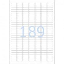 Kennzeichnungsetiketten 25,4x10mm ws 25 Blatt=4725 Etiketten
