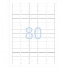 Kennzeichnungsetiketten 35,6x16,9mm ws 25 Blatt=2000 Etiketten
