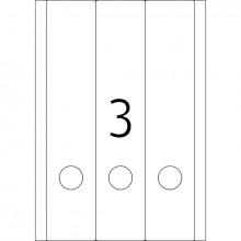 Ordneretiketten 61x297mm weiß ablösbar (Movables-Technologie)