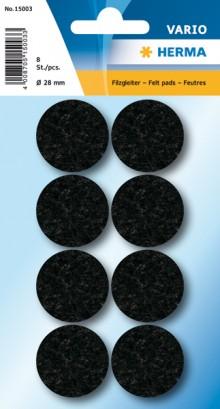 Filzgleiter schwarz 28 mm 8 St 1Pack