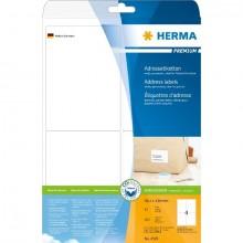 Adressetiketten Premium A4 99,1x139mm, weiß, Papier matt , 100 stk