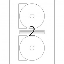 Etikett 116mm Maxi DVD Folie ws A4 50Et 25Bl 2Et Bl LaserCopy