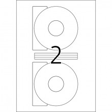 Etikett CD I+L+K 116mm ws 50St großes Loch/Kern, blickdicht