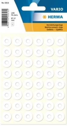 Verstärkungsring 12mm weiss Kunststoff-Folie Packung à 240St