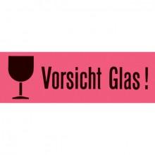 """Versandetiketten """"Vorsicht Glas"""" 39x118mm leuchtrot"""