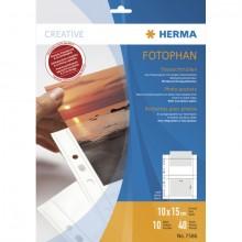 Fotoeinlageblatt A4 fotophan 10x15quer weiss PP-Folie 10Bl