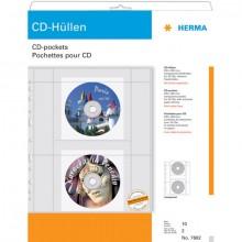 CD-DVD Hülle A4 PP-Folie transp. für 2CDs mit Papierhüllen 10Bl