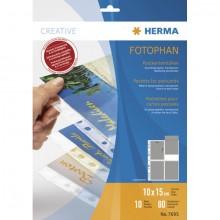 Postkartenhülle A4 PP-Folie transp. 10 x 15 cm, 10 Blatt