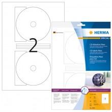 InkPrint Glossy CD-ROM Etiketten 116mm 10 Blatt weiß
