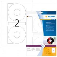 Etikett CD I+L+K 116mm ws 20St 10 Bl. f. Inkjetdruck in Fotoqualität