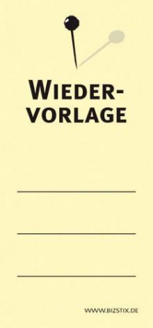 Haftnotizen 75 x 35 mm, gelb Wiedervorlage