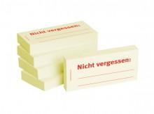 Haftnotizen 75 x 35 mm, gelb Nicht vergessen