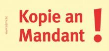 Haftnotizen 75 x 35 mm, gelb Kopie an Mandant