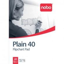 Nobo Flipchart Block, A1, blanko 40 Blatt, 70g/m