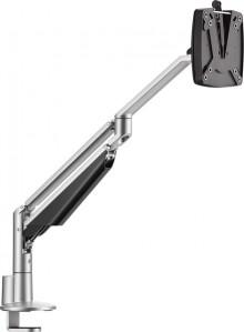 2-teiliger Monitortragarm CLU II C Silber + Tischbefestigung,