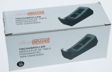 officeBRAND Tischabroller schwarz ungefüllt, für Klebefilm bis 19mmx33m
