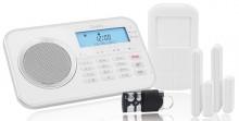Alarmanlage Protect 9868 GSM, weiß Notruf- und Freisprechfunktion