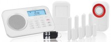 Alarmanlage Protect 9878 GSM, weiß Notruf- und Freisprechfunktion